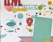 Scrapbooking Layout Love Valentines Premade Kit