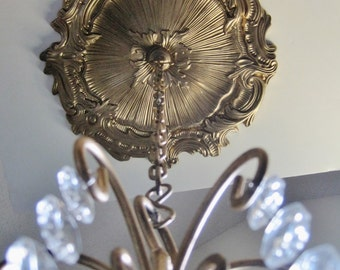 Custom Antiqued Golden Ceiling Medallion For CANDLE CHANDELIERS