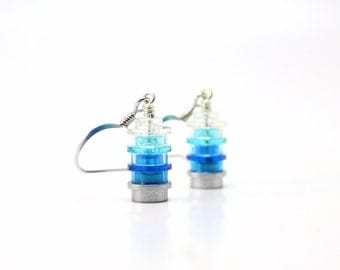 Ice Drop Earrings made from New LEGO® Pieces, Geek Earrings, Dangly Earrings