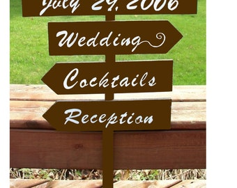 fall wedding signs, directional sign, reception decor, brown wedding signs, wedding sign, wood wedding sign, custom wedding sign, arrow sign