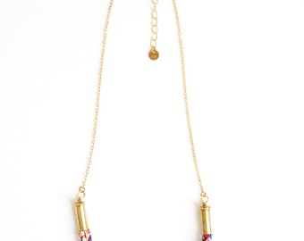 Short Braided Multicolor Necklace