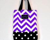 Halloween trick or treat bag  - customized personalized tote bag - book bag - shoe bag- media gadget bag - children's tote bag
