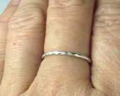 Sterling Silver Textured Stacking Ring Band