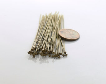 3-Inch Antiqued Brass 21-gauge Headpins 25
