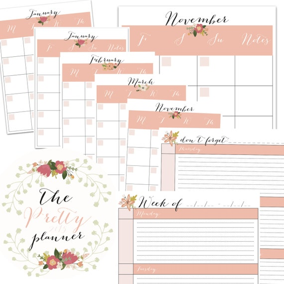 Items Similar To PRINTABLE FILOFAX PLANNER. Full Sized