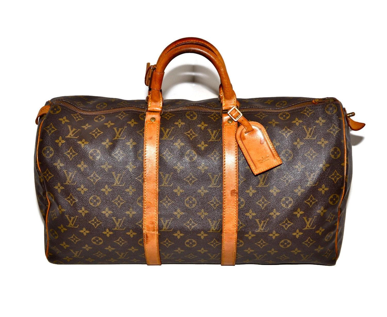 Louis Vuitton Keepall 50 Duffle Bag Luggage Medium Lv Monogram