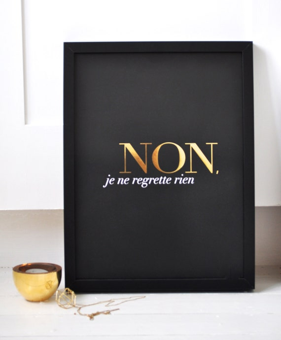French Tattoo Je Ne Regrette Rien No Regrets: Unavailable Listing On Etsy