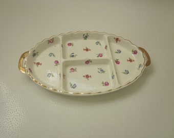 Bone China Tray Floral and Gold Trim VINTAGE
