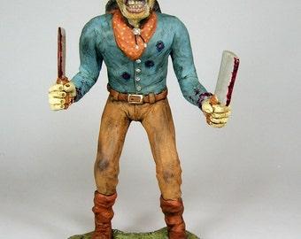 Zombie Horror Dark Art Sculpture