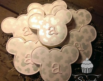 Mickey & Minnie Mouse Inspired Custom Sugar Cookie Favors (One Dozen)