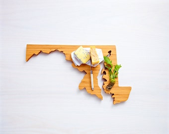 Maryland State State Cutting Board,Father's Day Gift,   Unique Wedding Gift, Personalized Gift, Summer Wedding GIft, Graduation Gift