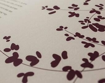Ketubah Giclée Print by Jennifer Raichman - Sprigs