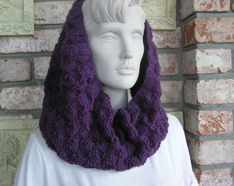 Berry Heather Hand Knitted Cowl/Neckwarmer