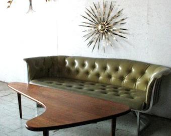 Sofa Rare Vintage Russell Woodard Aluminum Sofa 1960s mid century modern sofa