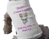 I'm Going To Be A Big Sister Dog Shirt - Dog T-Shirt - Graphic Tee - Secret Pregnancy Announcement Dog Shirt