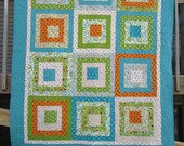 Building Blocks Twin Size Bed Quilt