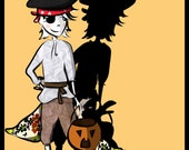 UNLIMITED PRINTABLE - Halloween Paper Doll