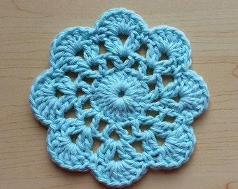 Crochet Dishcloths Set of 3, Crochet Cotton Wash Cloths, Cotton Facecloth, Crochet Doily, Flower Doily, Doilies, Crochet Flower Doilies,