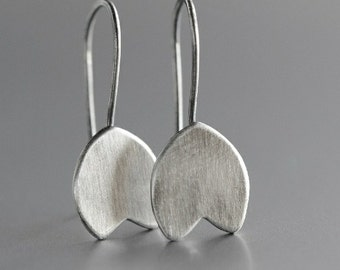Silver tulips - made to order - flower minimalist Sterling silver dangle earrings