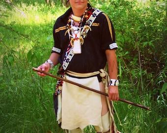 Made to order Buckskin leggings or loincloth native american made pow wow regalia mountain man