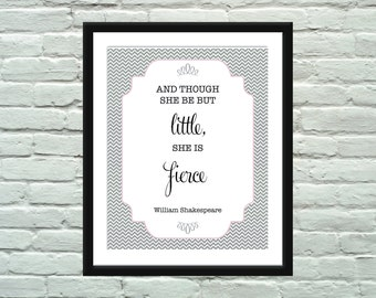 Shakespeare Quote Poster / Wall Art / Print