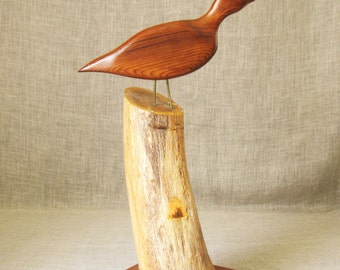 Vintage Folk Art Bird Carving, Hand Carved, Handmade, Wood Carving, Carved Birds, Nature, Aviary, Sculpture, Woodworking, Hand Crafted, Art