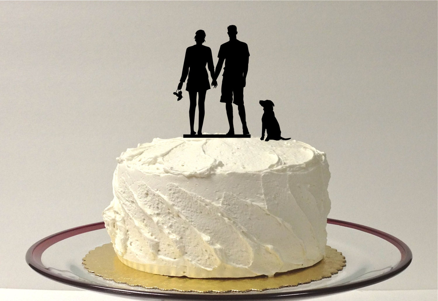 couple wedding cake silhouette wedding cake by 13016