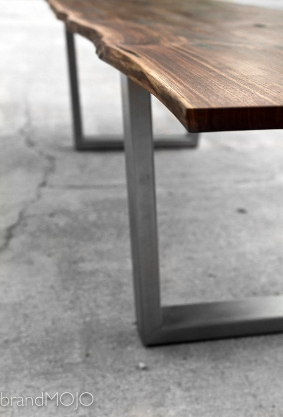 Live Edge Walnut Dining Table with Steel legs and Optional  : il570xN643588337sx3w from www.etsy.com size 570 x 841 jpeg 59kB