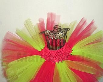 Girls Tutu, Pink and Green Tutu, Green and Pink Tutu, Birthday Tutu, Flower Girl Tutu, Photo Prop Tutu, Summer Tutu, Baby Tutu, Girl Tutu