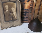 Twilight Faded True Love. VIntage Nebraskan Immigrant Couple. Ancestor Portrait. Rustic Romance