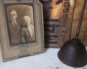 Twilight Faded True Love. VIntage Nebraskan Immigrant Couple. Ancestor Portrait. Rustic Romance