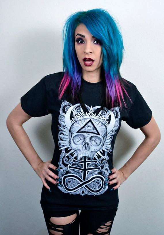 Illuminati Skull Tshirt