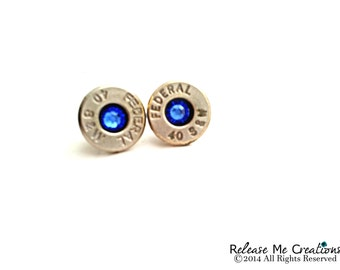 Custom Swarovski Bullet Birthstone Earring Studs For Her
