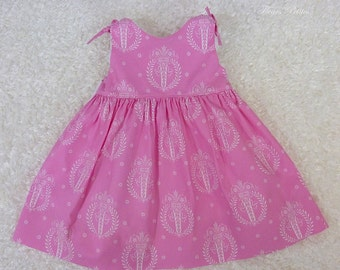 "CLEARANCE!! Girl's Sleeveless dress featuring Tanya Whelan's ""French Hat"" in pink  Ready to Ship (reg. 35.00)"