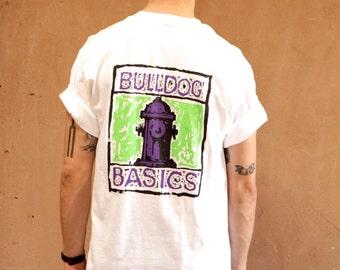 COOLERS white cotton BULLDOG BASICS t-shirt made in usa