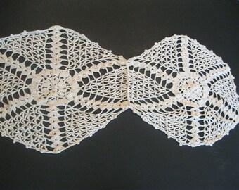 Lace Doily Crochet Runner, Delicate, Elegant Overlay