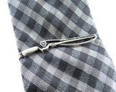Fishing Rod Tie Bar- Sterling Silver Finish- Fishing Pole Tie Clip- Fishing Gifts For Men-Black Friday Sale 20% Off