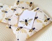 Bee Mini Cards, Gift Enclosure Card, Mini Cards and Envelopes, Gift Card Holder, Set of 10
