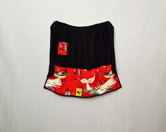 20 PERCENT OFF Code: 20FOR17 > 1950's Moby Dick White Whale Black & Red Pictorial Apron