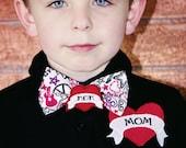 MOM Tattoo Polo Shirt: Toddler Boy Polo Shirt, Youth Black Rocker Polo Shirt, Mom Bow Tie
