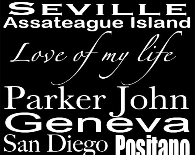 Custom Bus Roll Travel Vacation Ball Park Destination Gift on Wood or Canvas 20x30