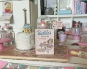 Barbie's Easy As Pie Cookbook - with Printed Pages inside - Choose 1/12 or 1:6 SCALE MINIATURE