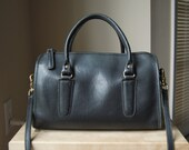 Authentic Vintage Coach Large Madison Satchel - Made in USA - Black Leather Doctor Bag