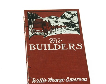 1909 THE BUILDERS Antique Notebook Journal