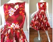 Vintage 1950s Mademoiselle Ricci Circle Skirted Dress by Nina Ricci