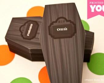 COFFIN Favor Box : Print at Home Full-Color Template | Dracula | Monster Teen | DIY Printable | Digital File | Instant Download