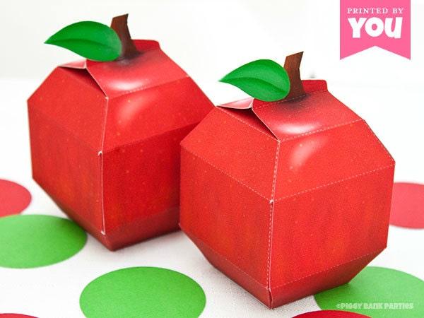 Apple favor box diy printable school and teacher inspired for Diy apple boxes