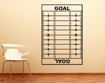 Vinyl Wall Art Decal Sticker Football Coach Play Board 1318m