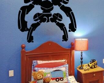 Vinyl Wall Decal Sticker Alien Robot with Armor 5147m