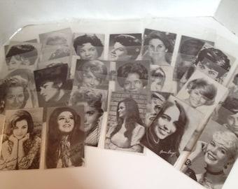 Billboard Penny Arcade Exhibit Cards Lot of 28 Vintage Celebrity Trade Cards **ON SALE**